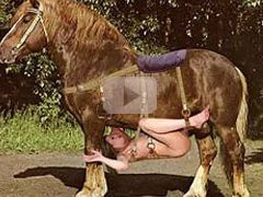 Oral favor for a studhorse with...